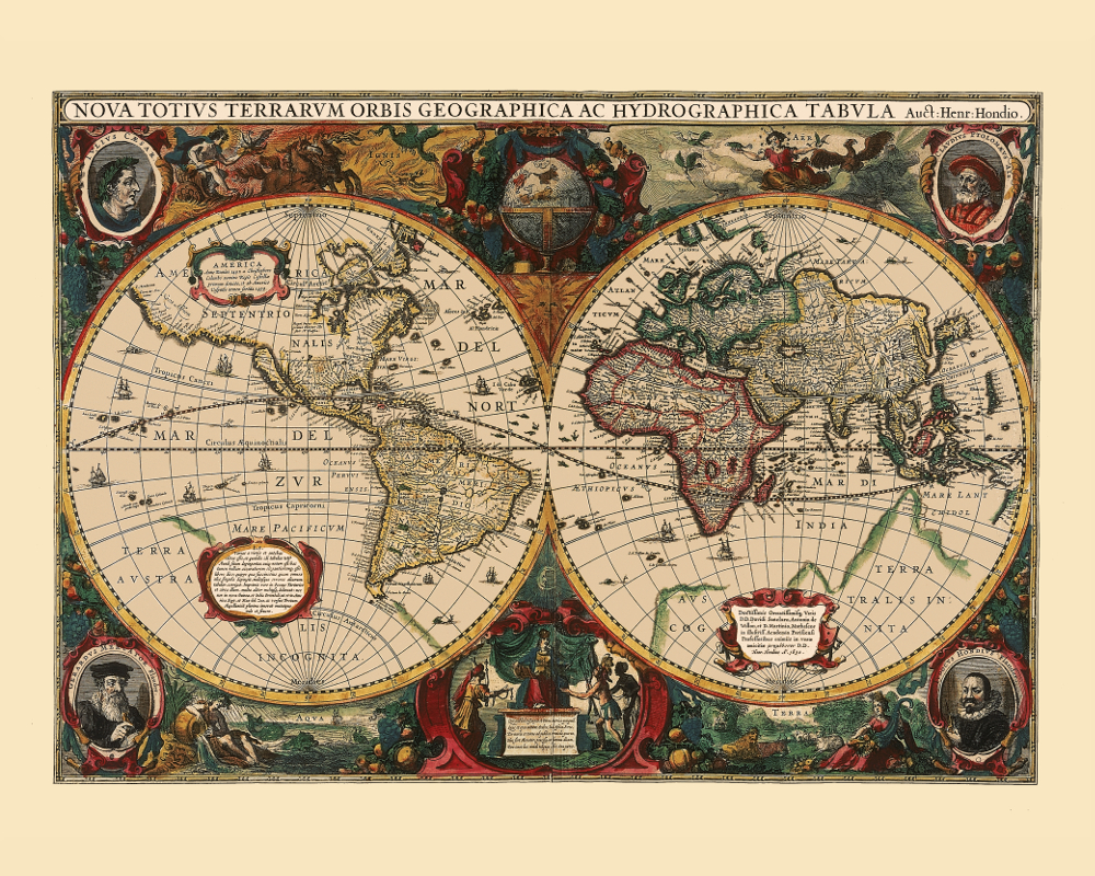 Ten reasons to have an ancient map on your wall kobeica blog vintage world map poster gumiabroncs Choice Image